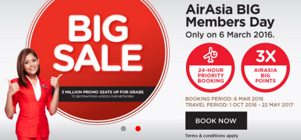 Airasia Big Sale For Travel October 1 May 22 2017 Book
