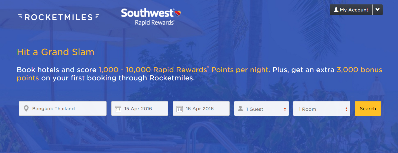 Rocketmiles Southwest Airlines 3 000 Bonus Rapid Rewards Miles For First Booking By April 15 2016 Loyaltylobby