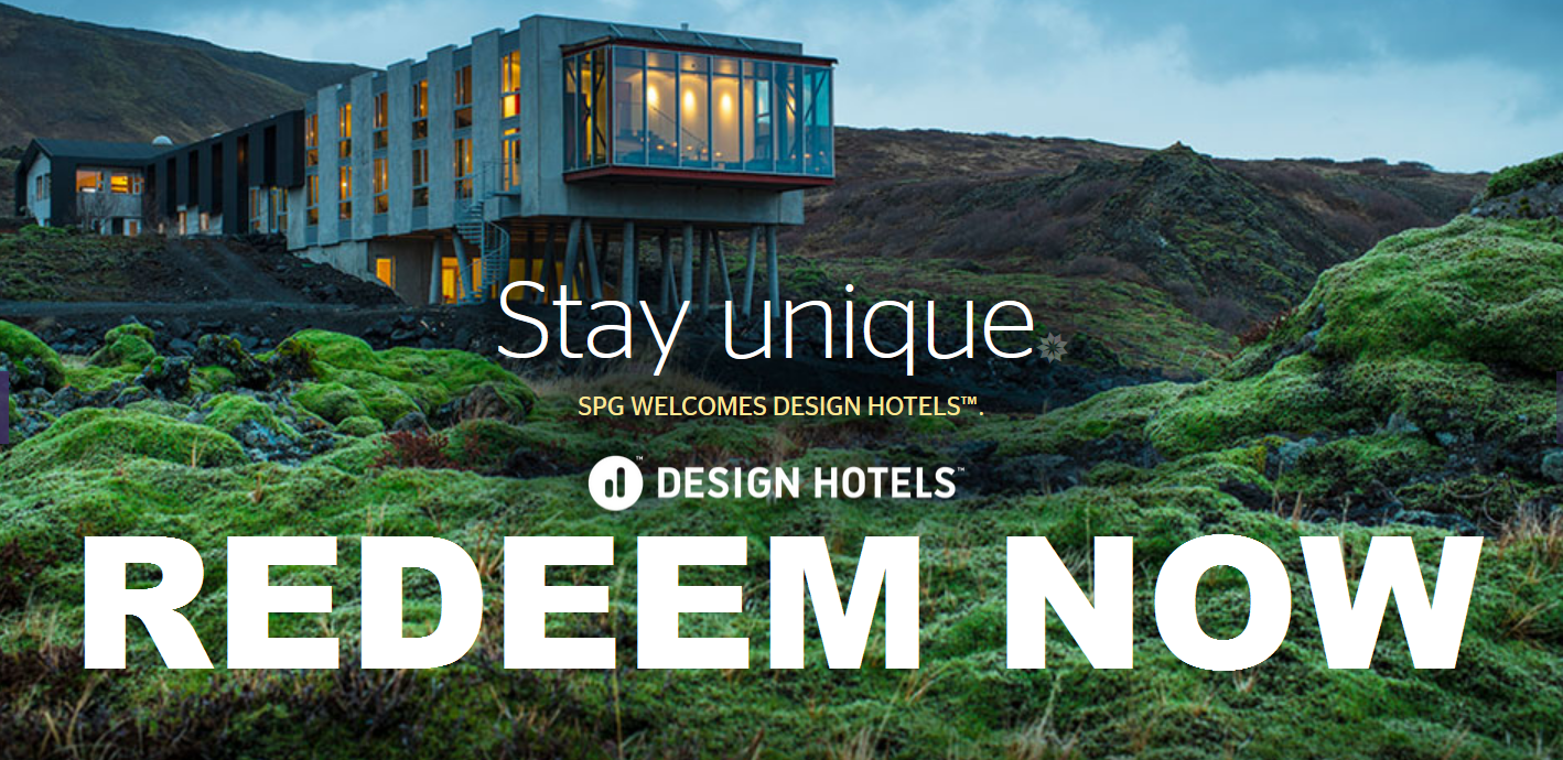 Starwood preferred guest spg design hotels starpoints for Design hotel awards