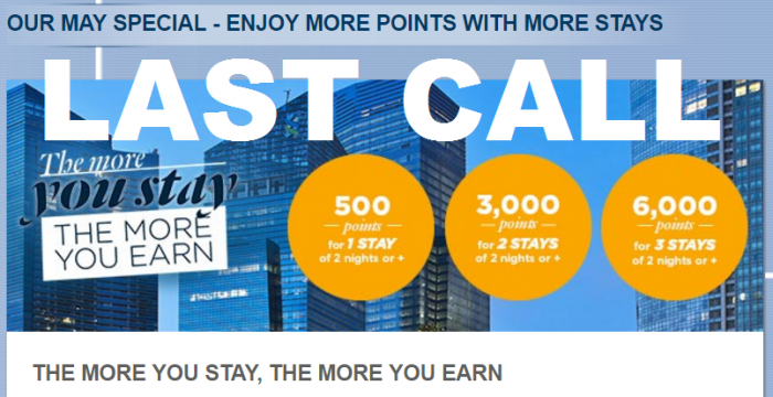 Last Call Le Club AccorHotels 6,000 Bonus Points For 3 Stays May 3 – August 31, 2016 (Book By 31)