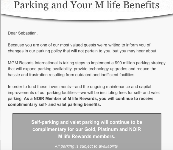 Mlife Parking