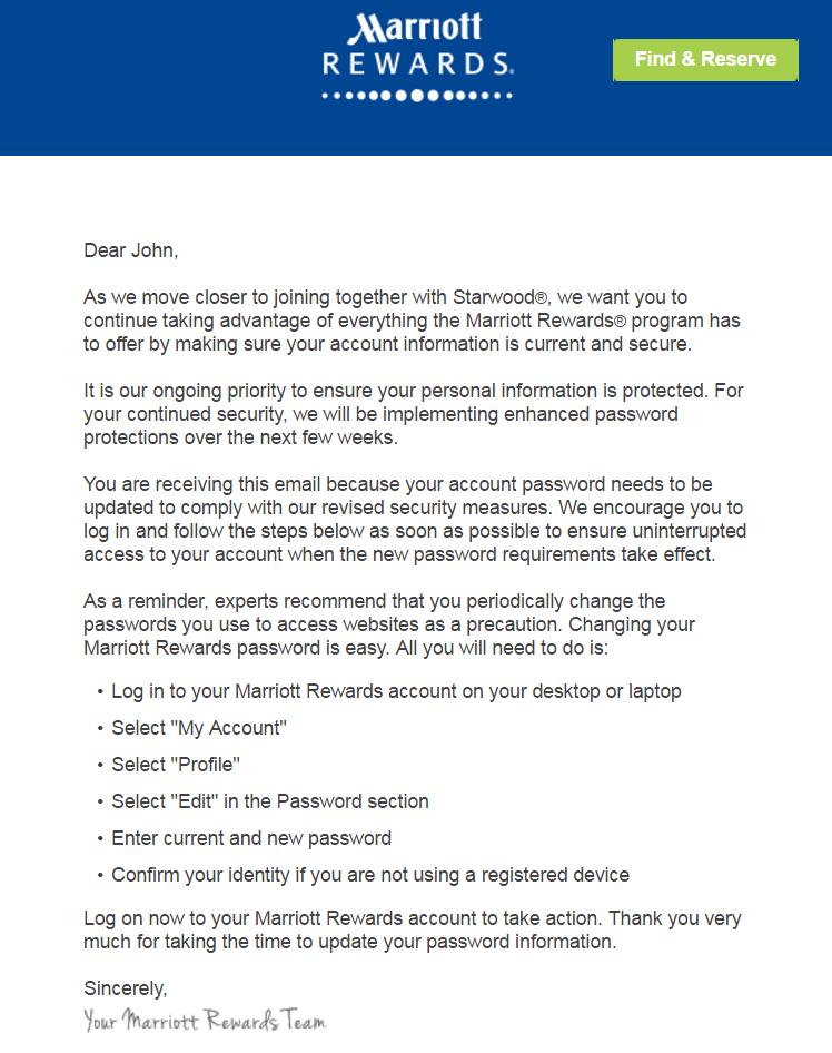 Marriott Rewards Password Update For Many Loyaltylobby