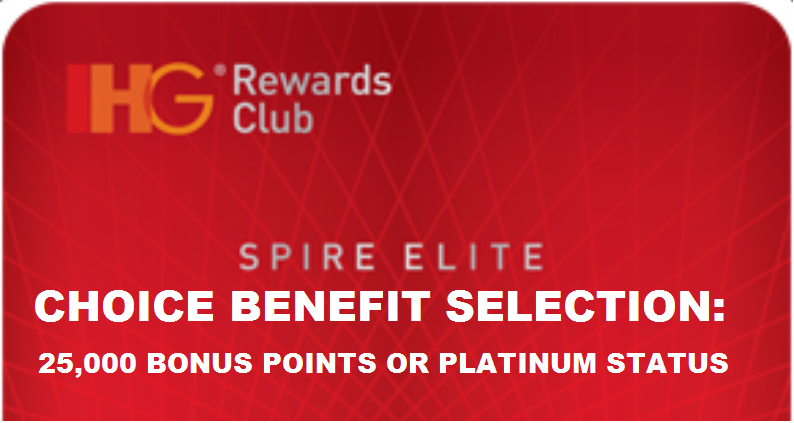 ihg gift card ihg rewards club spire elite choice 25 000 bonus points 5853