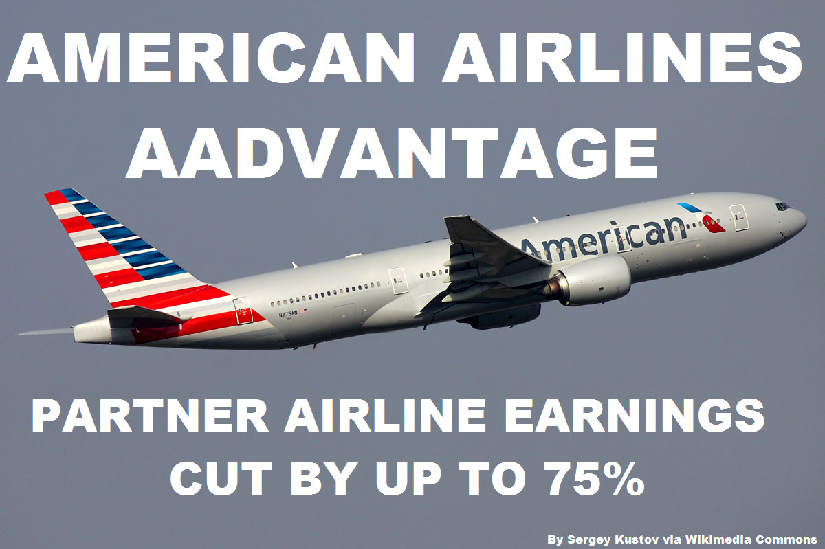 American Airlines Aadvantage Cuts Partner Earnings By Up