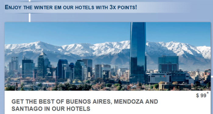 Le Club AccorHotels Buenos Aires, Mendoza & Santiago Triple Points July 19 – September 19, 2016