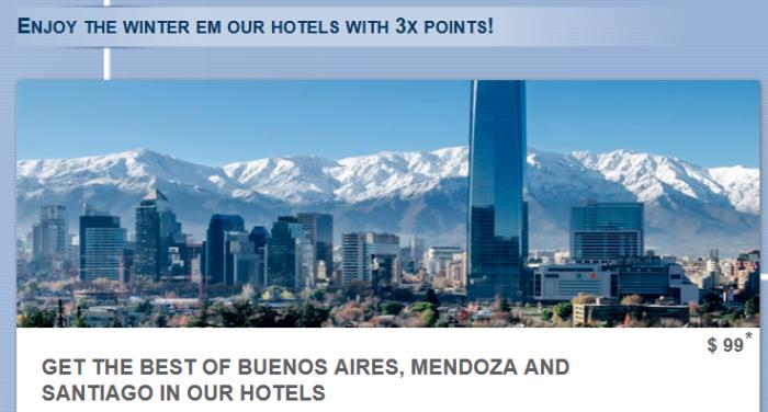 Le Club AccorHotels Buenos Aires, Mendoza & Santiago Triple Points July 19 – September 19, 2016