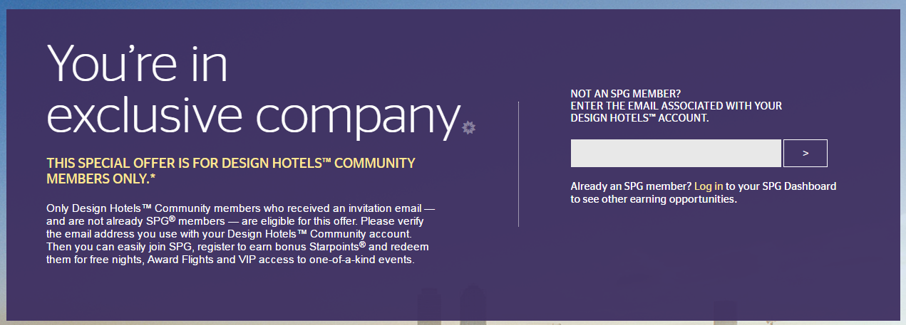 Spg design hotels activation promo for up to 5 000 bonus for Design hotels 2016