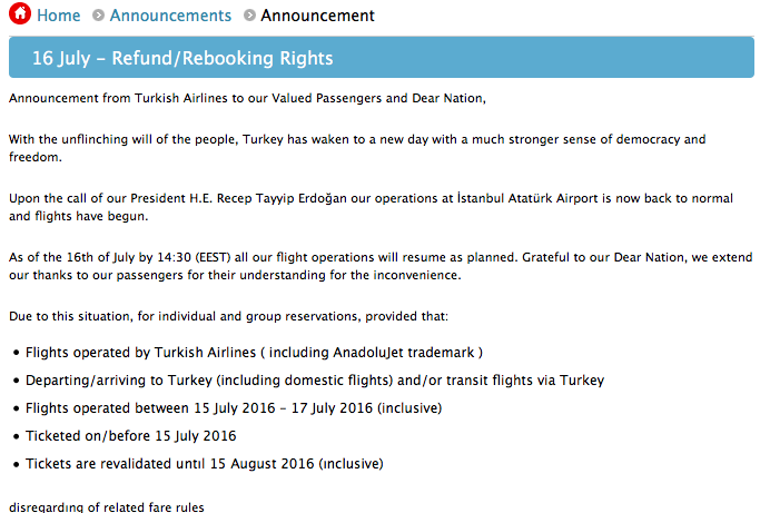 F A A Bans All Flights From Turkey To The U S Until