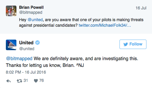 United Airlines Pilot / Lawmaker Suspended For Tweeting ...