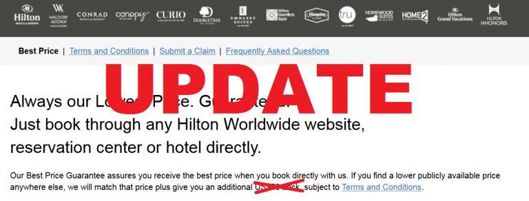 Our Best Price Guarantee Claim Form  Hilton