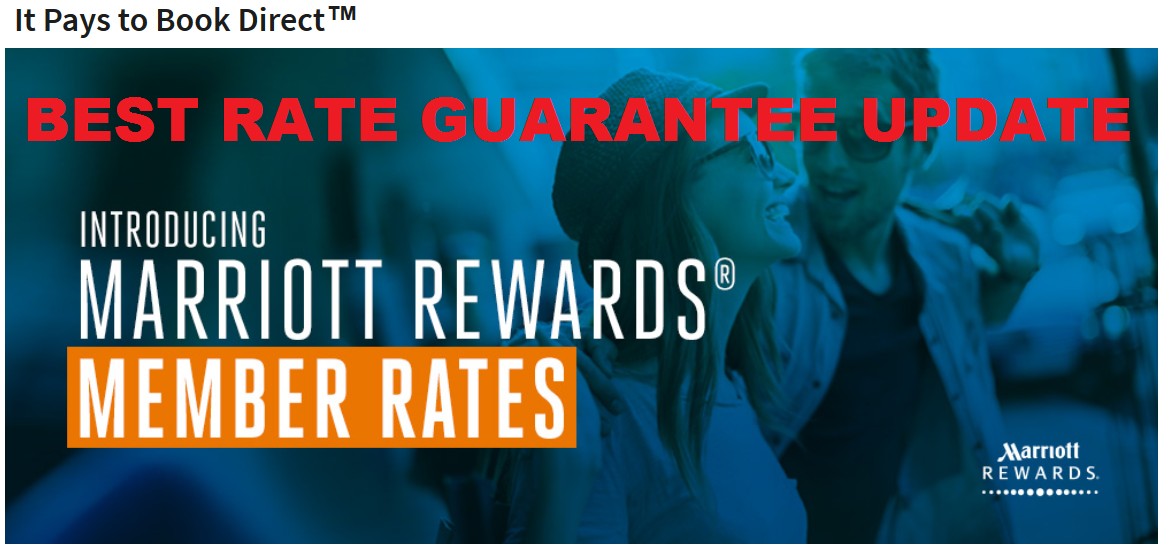 Shock, horror! I couldn't cancel my Marriott room as it was non-refundable, but I knew I could resort to the Best Rate Guarantee. Best Rate Guarantee. On check in .