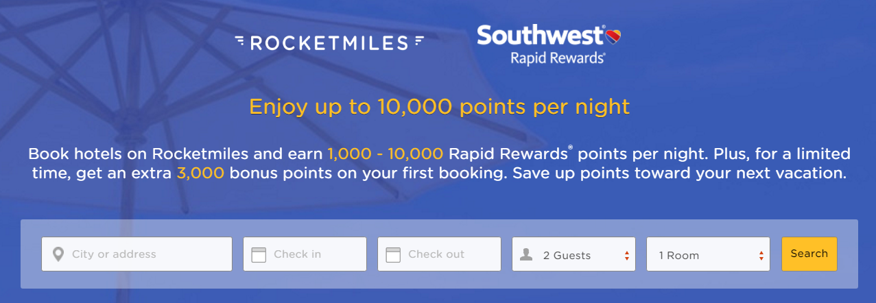 Rocketmiles Southwest Airlines 3 000 Bonus Rapid Rewards For First Booking By October 30 2016 Loyaltylobby