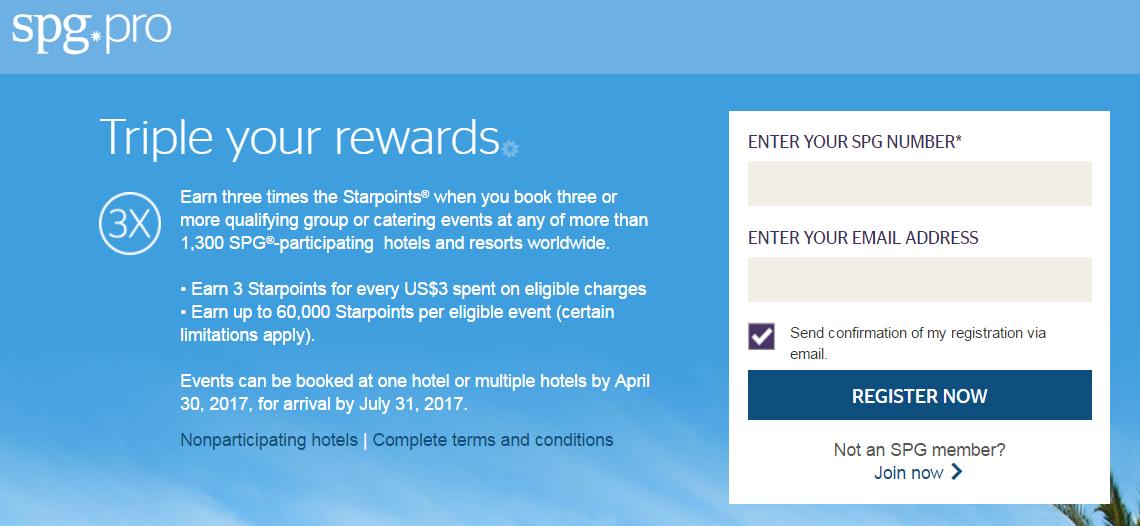 Spg bonus promotion