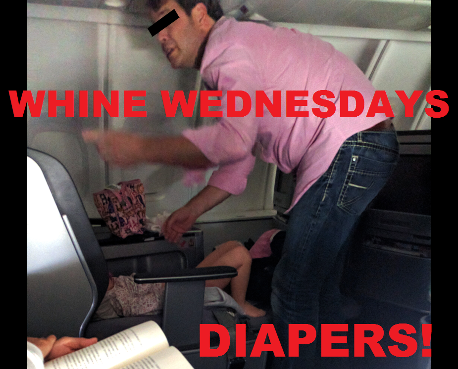 Whine Wednesdays Diaper Change In Business Class