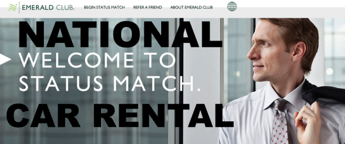 National Car Rental is the official rental car partner of Signature, and customers enjoy a complimentary enrollment in the Emerald Club program.