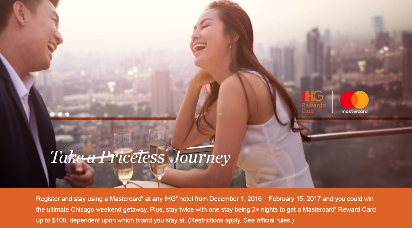 IHG Rewards Club Priceless MasterCard Promotion For Up To $100 ...