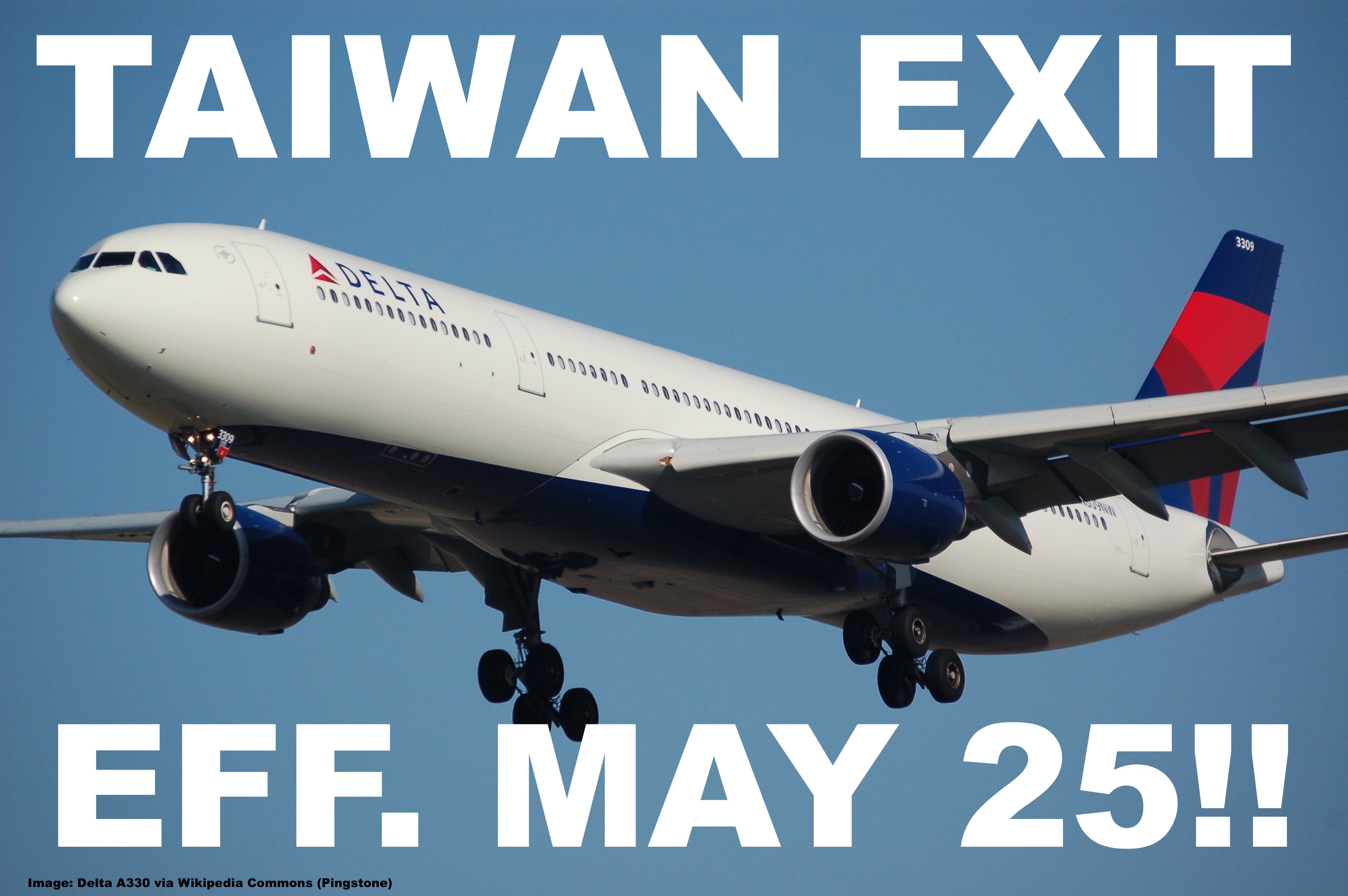 Delta Air Lines Withdraws From Taipei Effective May 25 2017, Shifts ...