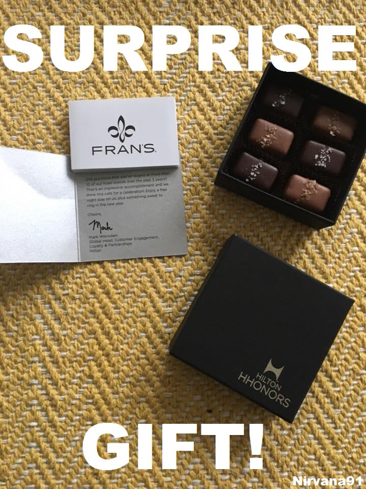 Hilton HHonors Surprise Gift: Box Of Chocolates + Free ...