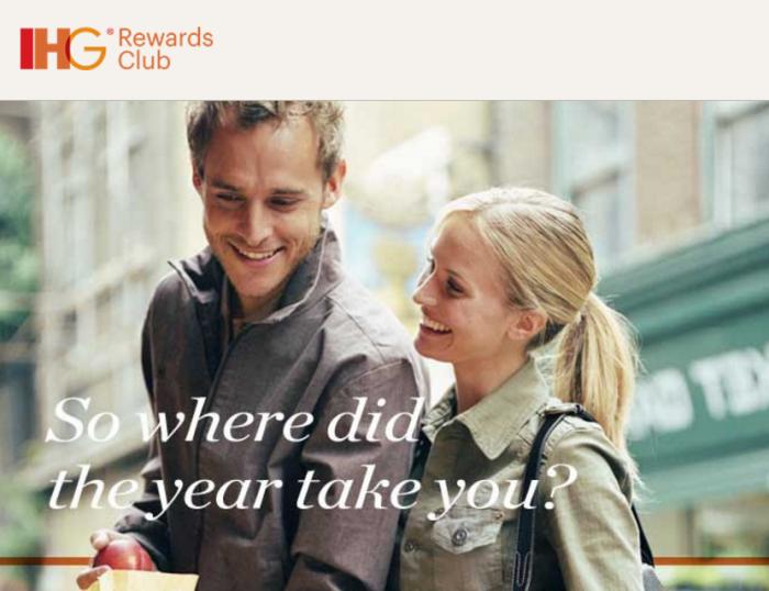 "IHG Rewards Club IHG Rewards Club ""Your 2016 travel snapshot""-Email"