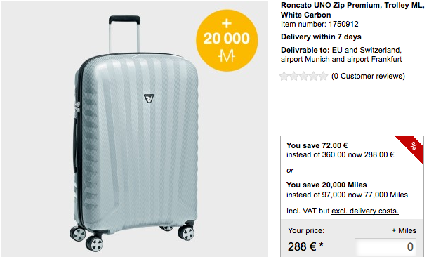 Lufthansa miles more online shopping