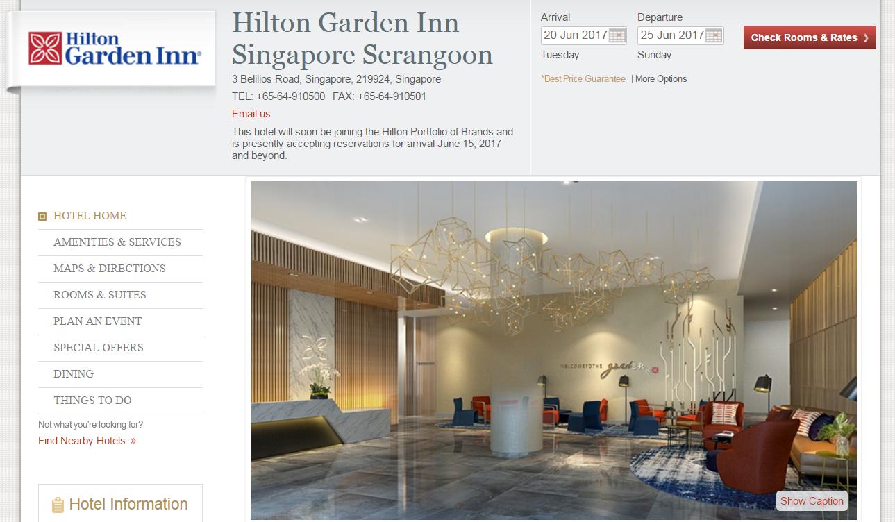 Hilton Honors Award Special Hilton Garden Inn Singapore 10 000 Points Night Opens June 15 2017 Loyaltylobby