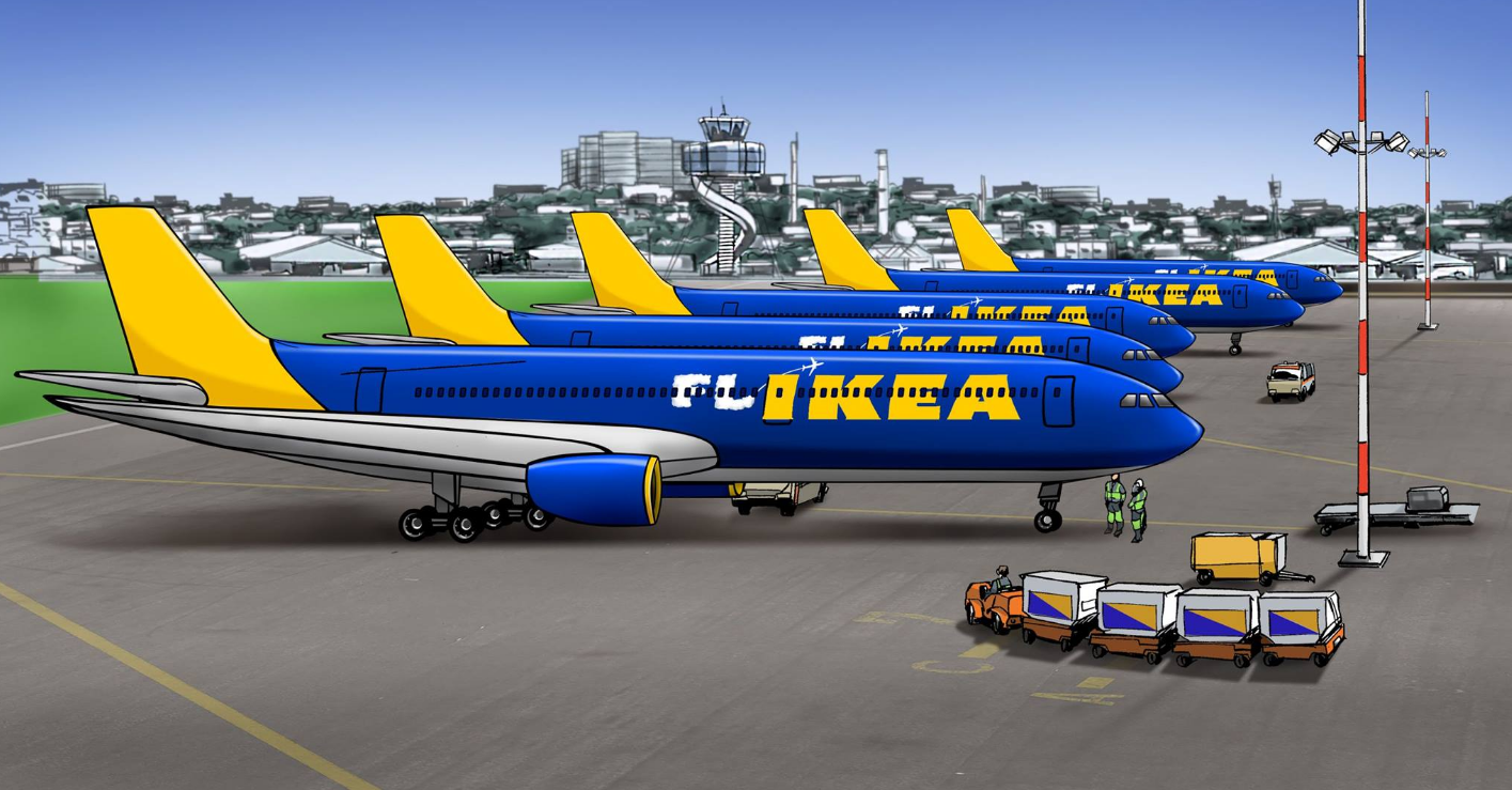 ikea to launch flikea airlines loyaltylobby. Black Bedroom Furniture Sets. Home Design Ideas