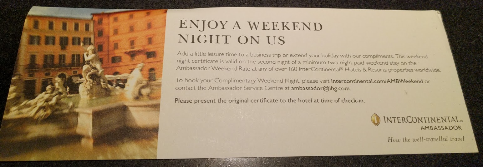 Intercontinental ambassador free weekend night certificate booking intercontinental ambassador free weekend night certificate booking link loyaltylobby 1betcityfo Choice Image