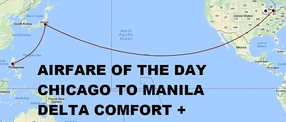 Airfare of the day delta chicago to manila usd 1075 rt for Round trip flight to chicago