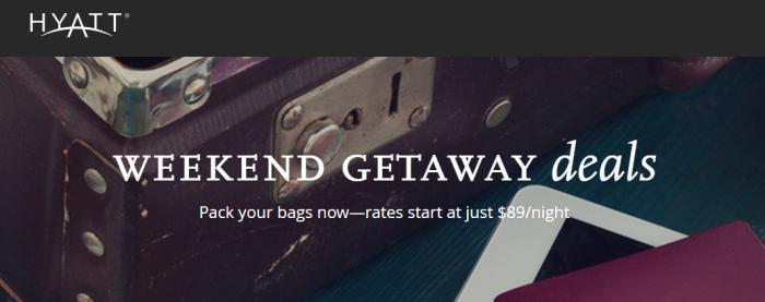 "Hyatt ""Weekend Getaway Deals"" June 29 – July 2 2017"