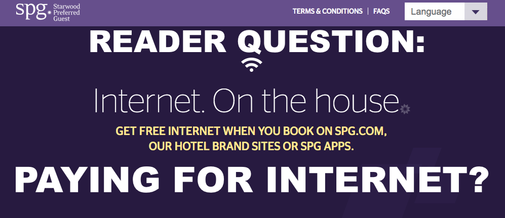 Reader Question Should Guests Refuse To Pay For Internet At Hotels Case Sheraton Spg Loyaltylobby