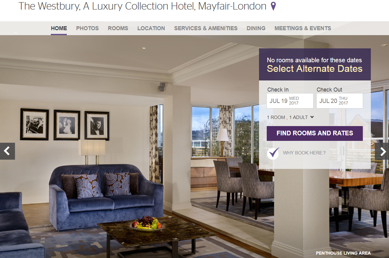 Reader comment watch out for 5 discretionary service for The luxury collection hotel