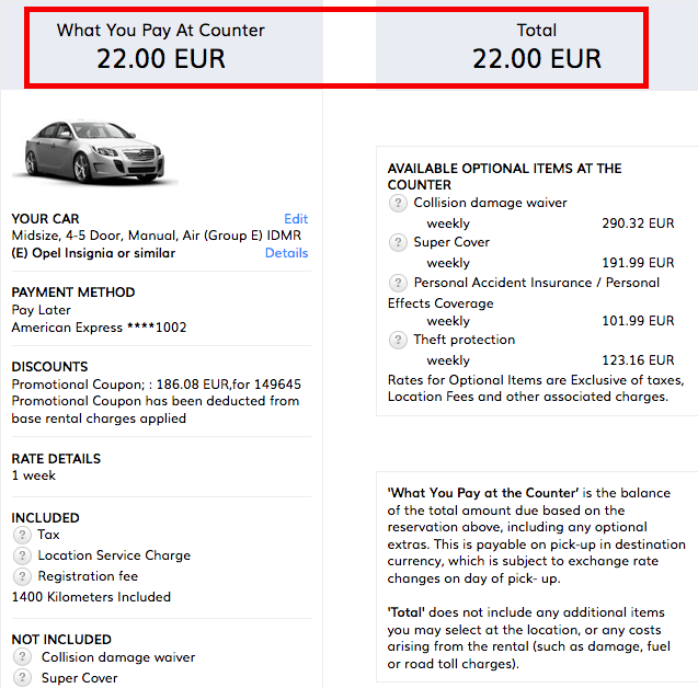 Points For Hertz Car Rental Rate
