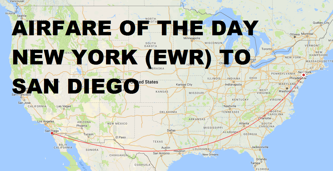 Airfare Of The Day Alaska Airlines New York Ewr To San Diego Economy Class 119