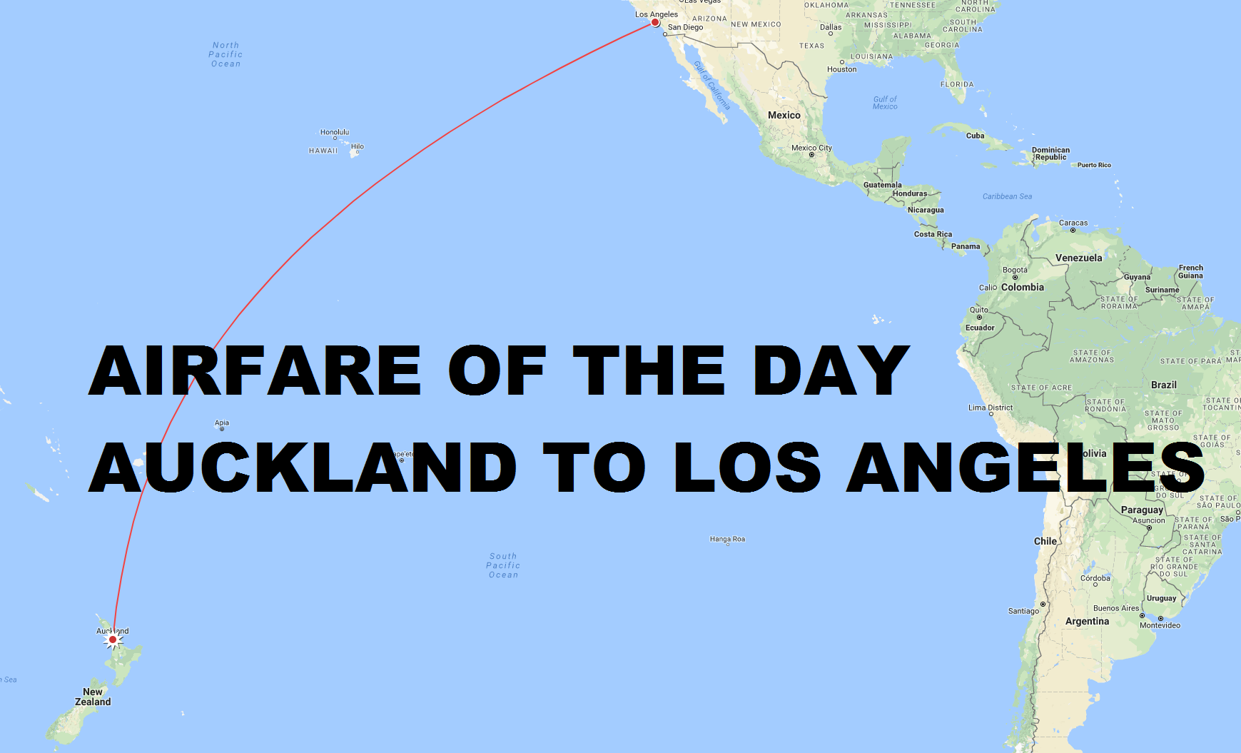 Airfare Of The Day American Airlines Auckland To Los