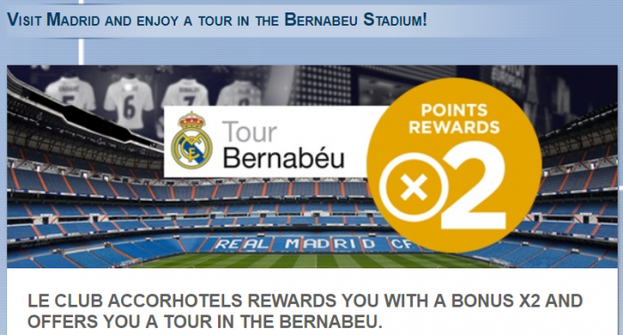 Le Club AccorHotels Madrid Ibis & Novotel Double Points October 9 – December 31, 2017