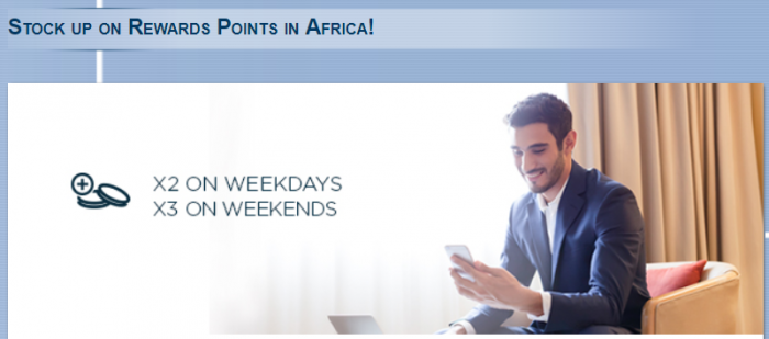 Le Club AccorHotels Africa Double & Triple Points October 25 – December 31, 2017