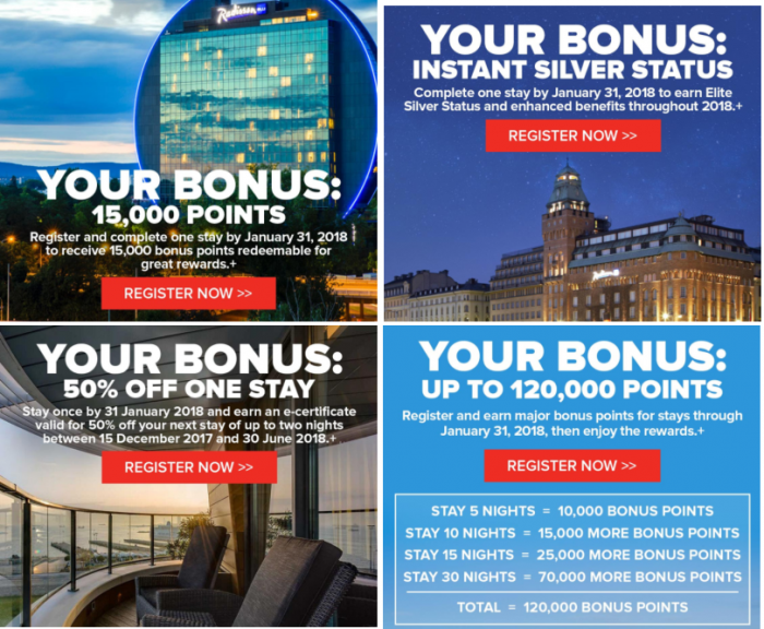 Club Carlson Bonus Offers For Stays November 1 – January 31, 2018 (Post Your Offers!)