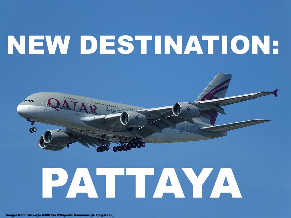Qatar airways adds pattaya rayong as fifth thailand destination over the years qatar airways has developed thailand to one of their most prolific destinations as far as capacity and overall frequency is concerned stopboris Images