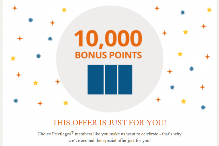 Choice Privileges 10,000 Bonus Points For Five Nights December 11 – February 9, 2018 (Post Your Offer!)