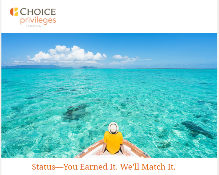 Choice Hotels Choice Privileges Status Match 2018