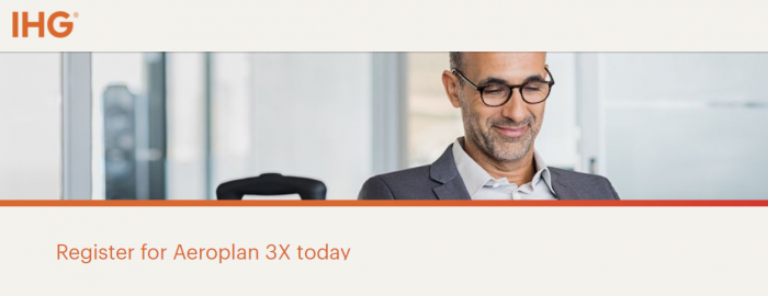IHG Rewards Club Air Canada Triple Aeroplan Miles January 1 – April 15, 2018