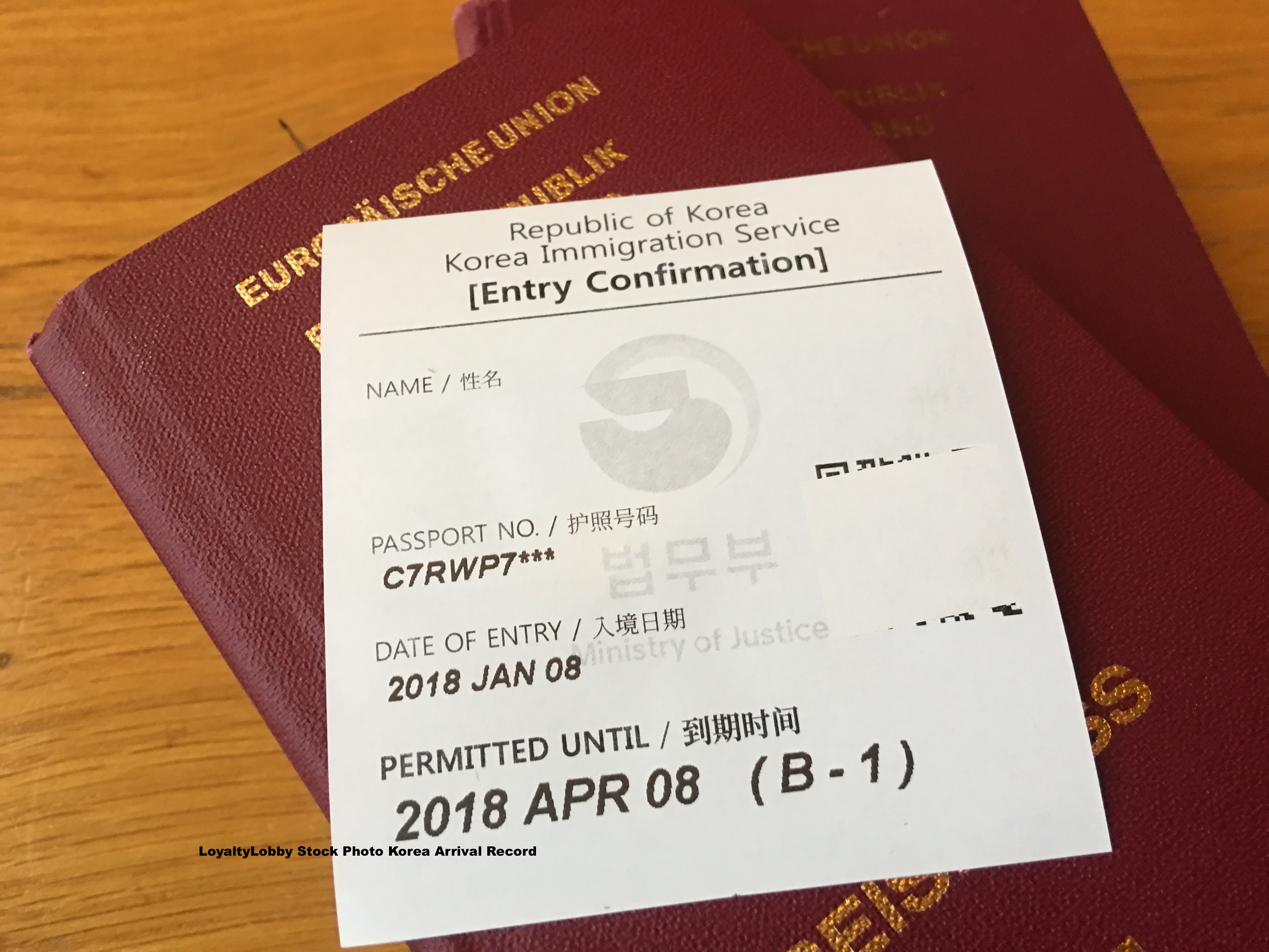 No More Passport Stamps For Arrivals Departures Into South Korea Slip Only