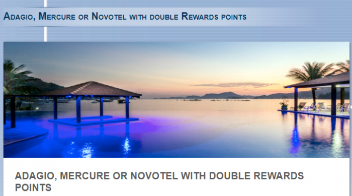 Le Club AccorHotels Double Points For Adagio, Mercure & Novotel In Brazil January 30 – March 1, 2018 (Book By February 28)