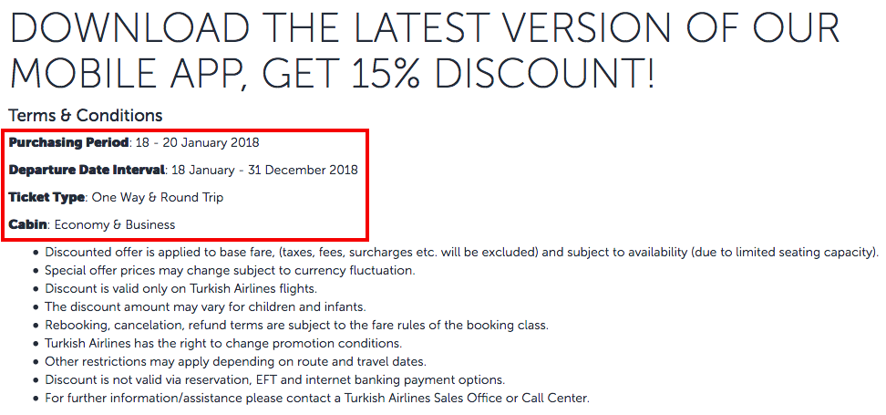 Turkish airlines coupon code 2018