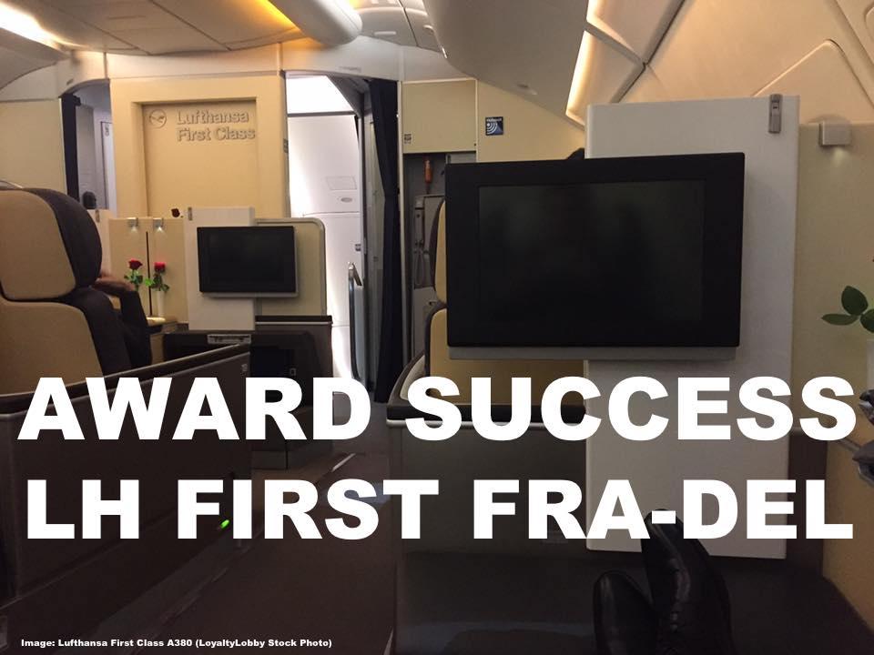 Award Success: United Mileage Plus Booking For Lufthansa