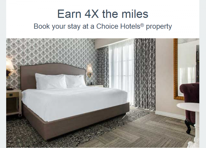 Choice Privileges American Airlines Quadruple Miles (250 base + 750 bonus) For Stays February 1 – March 31, 2018