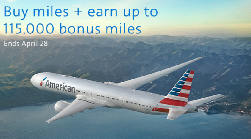 American Airlines Buy Amp Gift Aadvantage Miles Up To 115 00