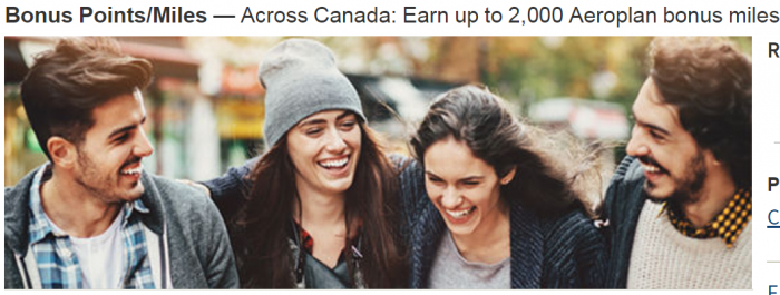 Marriott Rewards Air Canada Aeroplan Up To 2,000 Bonus Points For Stays In Canada April 3 – June 30, 2018