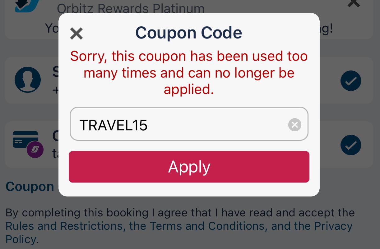 Orbitz coupon codes