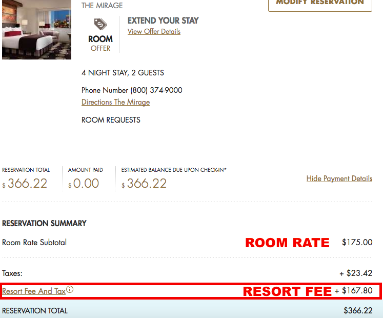 What Is The Hotel Room Tax Rate In Las Vegas